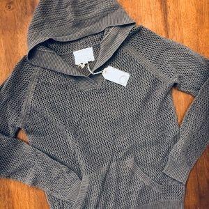 Anthropologie Line Shirt 469 Mesh Stitch Hoodie